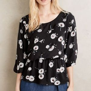 ANTHROPOLOGIE Deletta Wished Blooms Top #D16